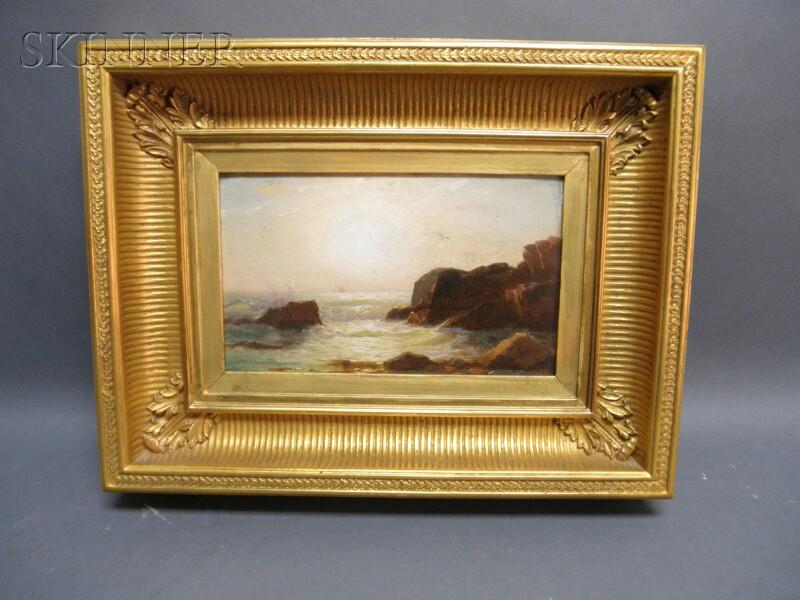 William Stanley Haseltine (American, 1835-1900)      Bright Sun over a Rocky Coast