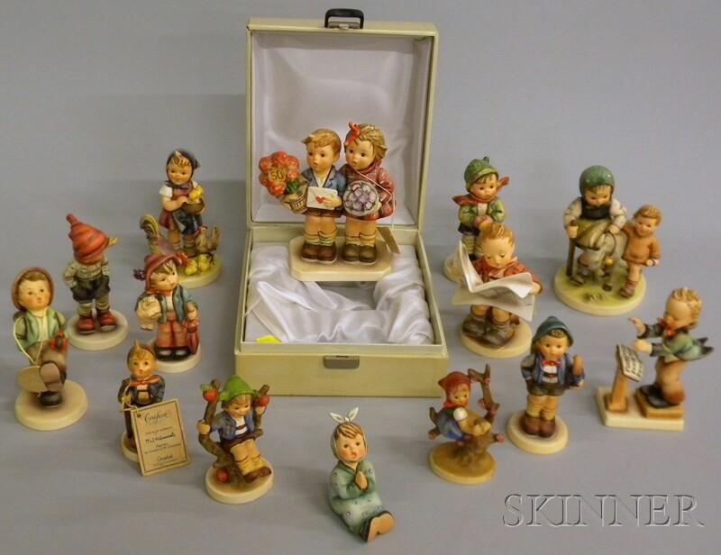 Fifteen Goebel/Hummel Ceramic Figures