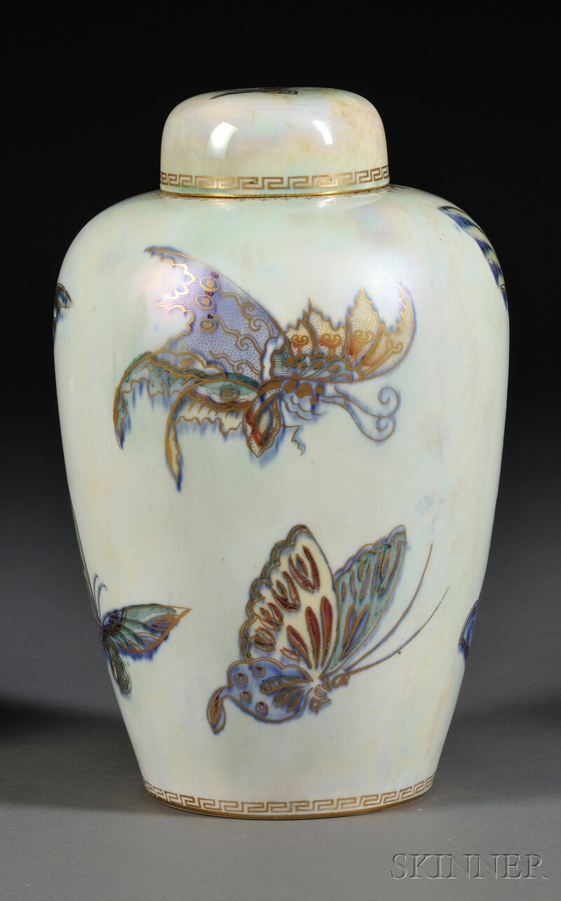 Wedgwood Butterfly Lustre Malfrey Pot and Cover