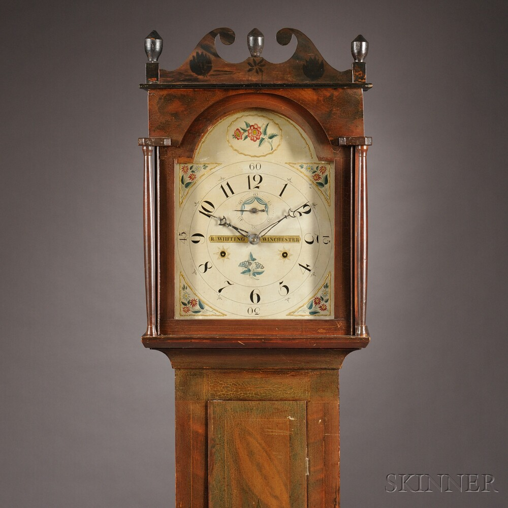 Riley Whiting/Rufus Cole Painted Tall Clock