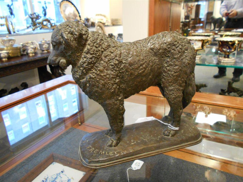 After Emmanuel Fremiet (French, 1824-1910)       Bronze Figure of a Dog