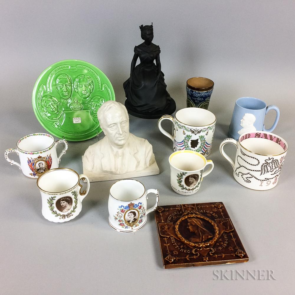 Twelve Commemorative Ceramic Items