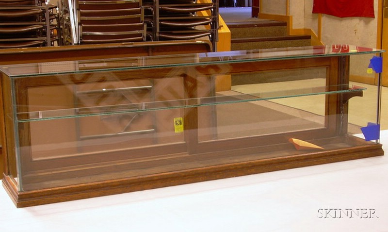 Glass Counter Display Case by Joslin Showcase Co., Boston, 14 x 46 in. Please note: Additiona lot.