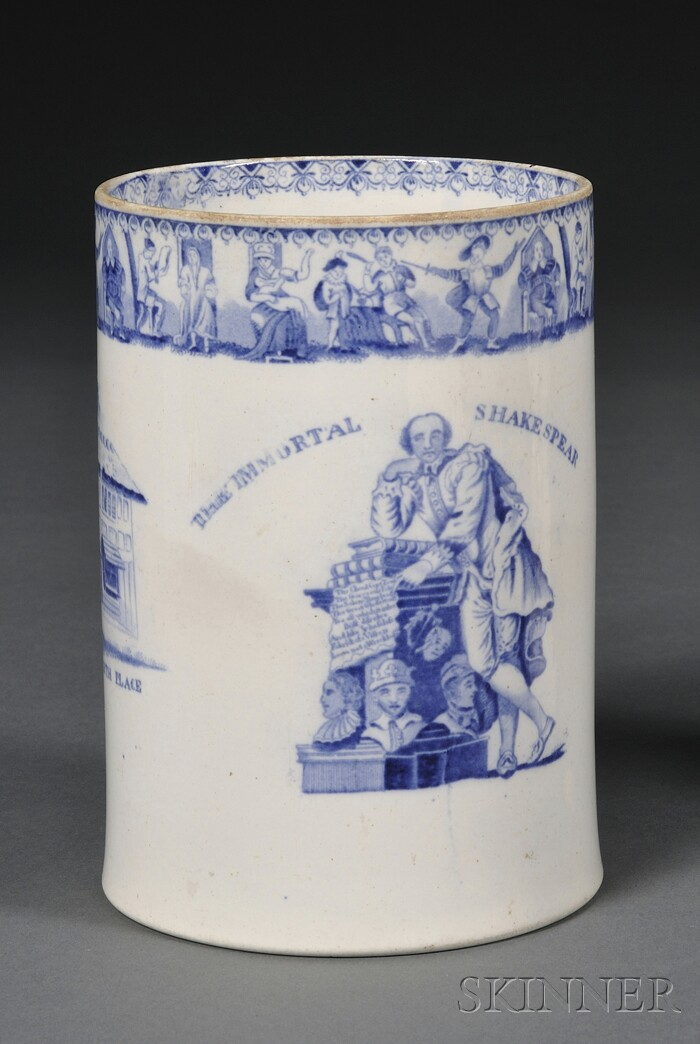 Staffordshire Shakespeare Commemorative Pearlware Tankard