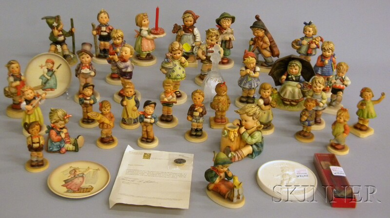 Thirty-four Goebel/Hummel Figures, Collectors Club Ceramic Figures, and Related Items.