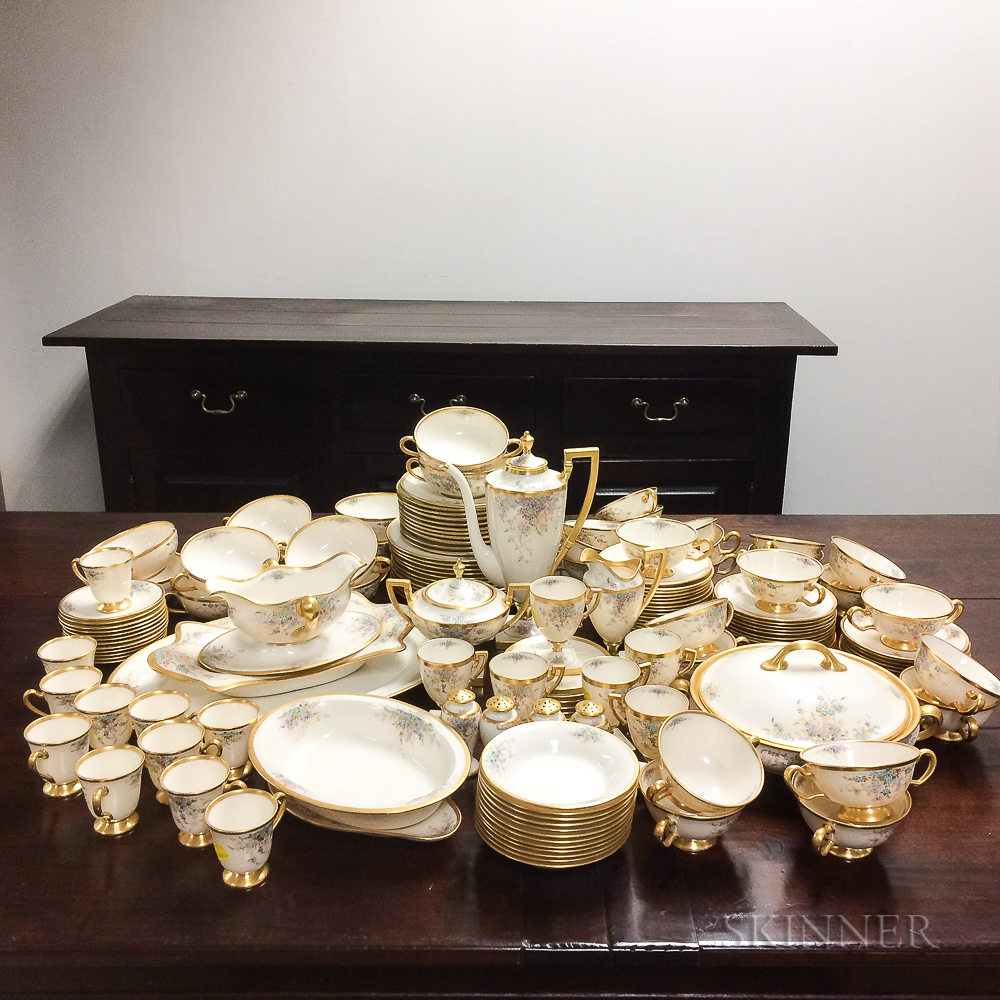Extensive Lenox Porcelain Partial Luncheon Service.     Estimate $200-400
