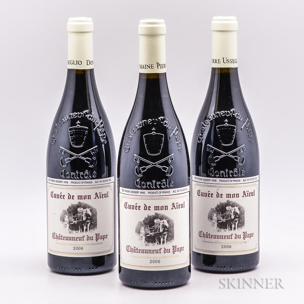 Domaine Pierre Usseglio Chateauneuf du Pape Cuvee de mon Aieul 2006, 3 bottles