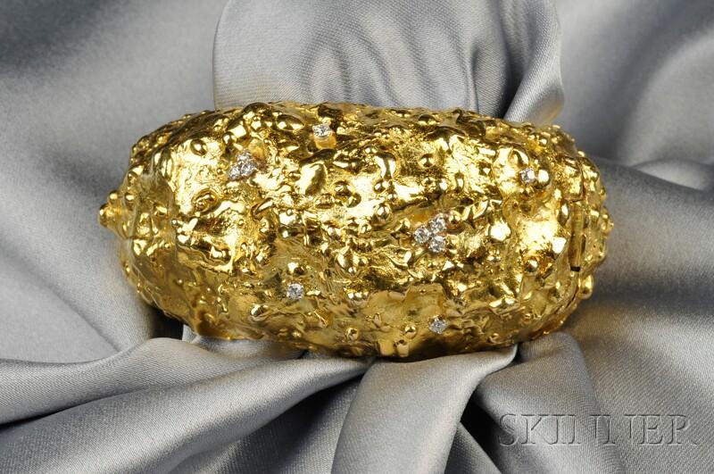 18kt Gold and Diamond Bracelet, David Webb