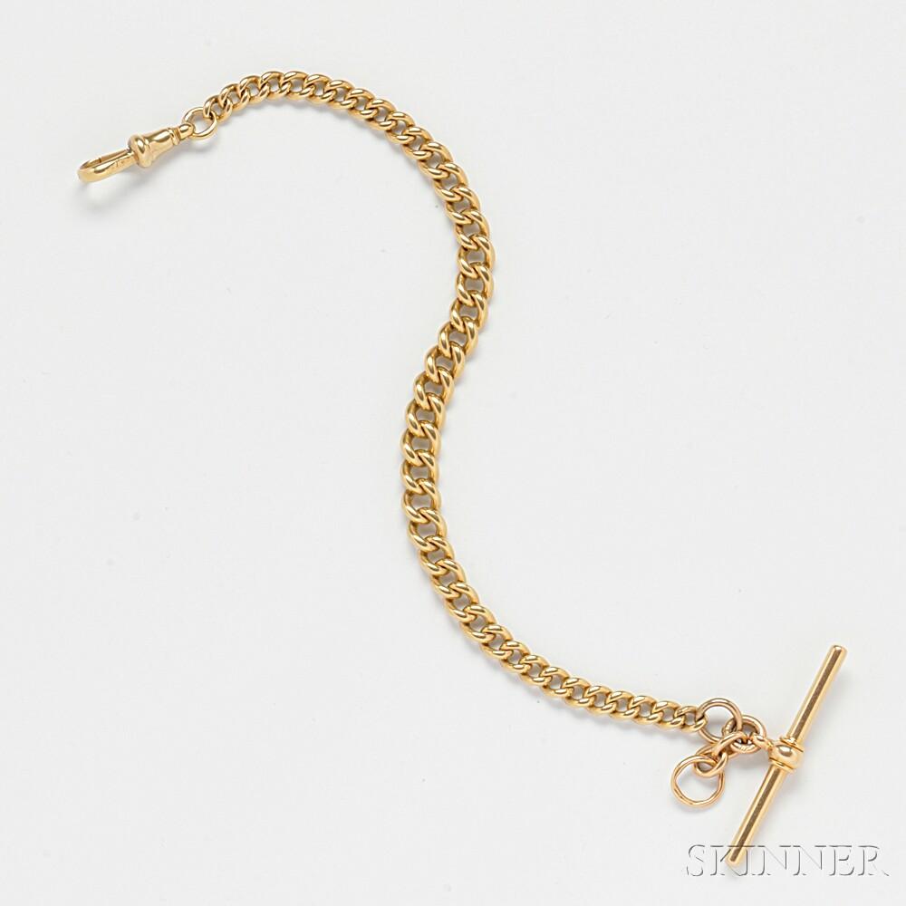 18kt Gold Watch Chain