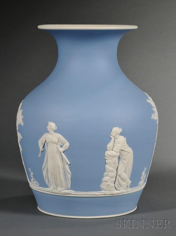 Wedgwood Light Blue Jasper Dip Vase