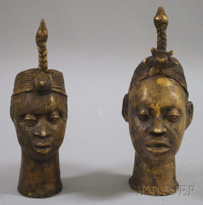 Two Ike Bronze Heads