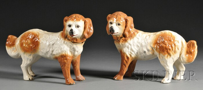 Pair of Scottish Pottery Spaniels