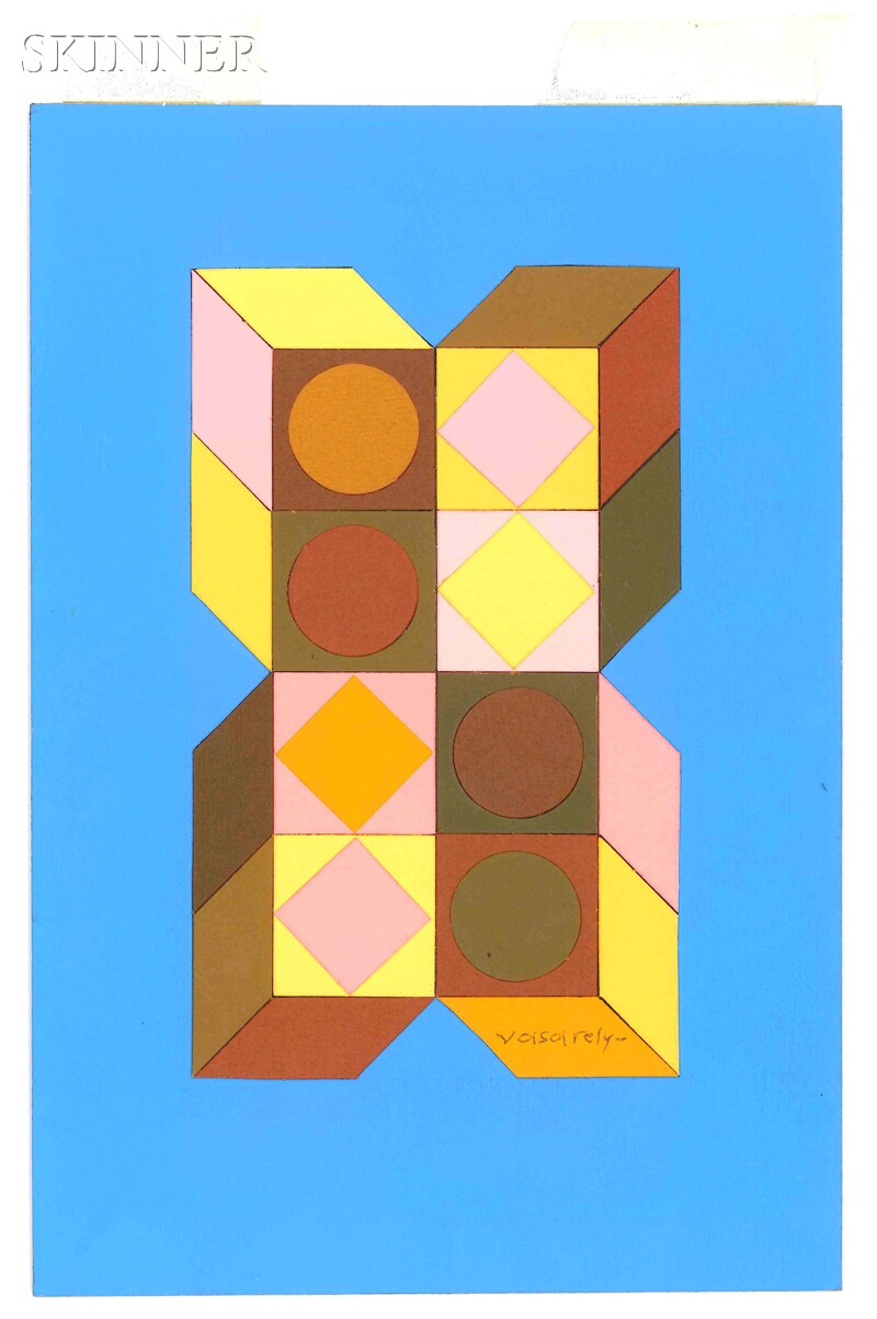 Victor Vasarely (Hungarian/French, 1906-1997)      Composition