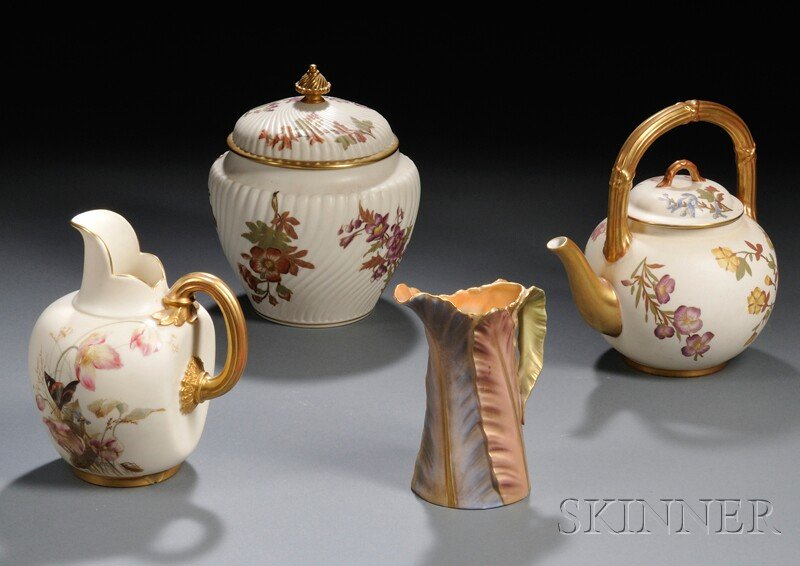 Four Royal Worcester Porcelain Items