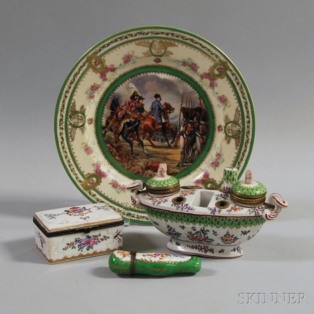 Four Pieces of Mostly European Porcelain