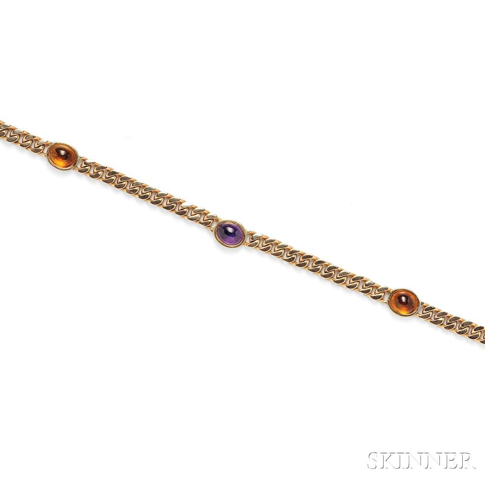 14kt Gold Gem-set Chain
