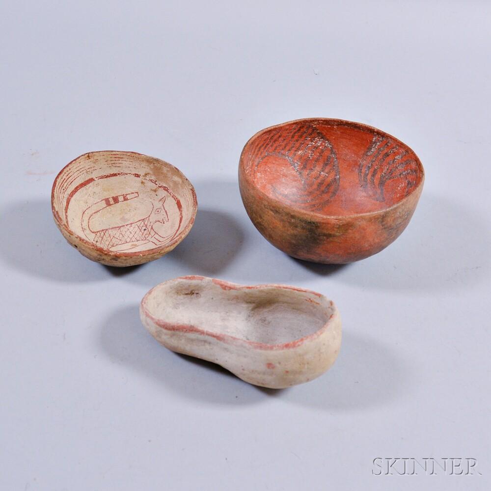 Three Southwest Prehistoric Pottery Vessels