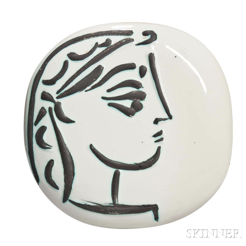 Pablo Picasso (Spanish, 1881-1973)      Jacqueline's Profile