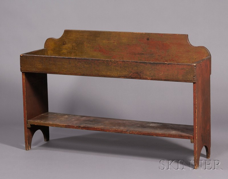 Painted Dry Sink Bucket Bench