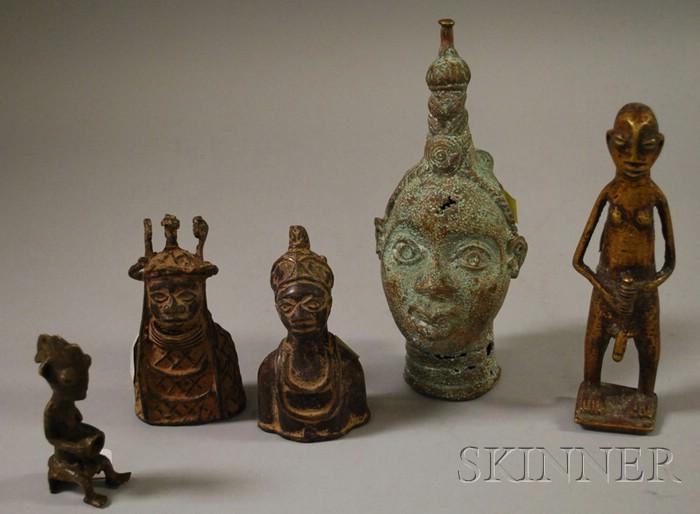 Five Small Ike Bronze Figures