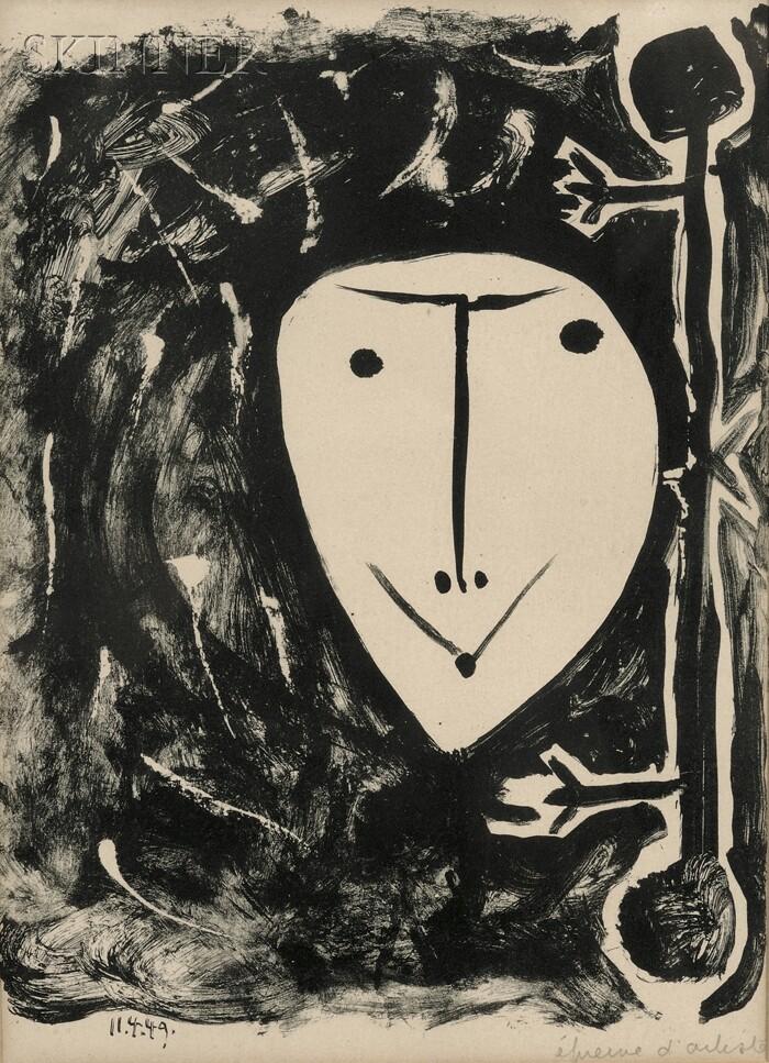 Pablo Picasso (Spanish, 1881-1973)      Plate   from   ÉLÉGIE D'IHPÉTONGA