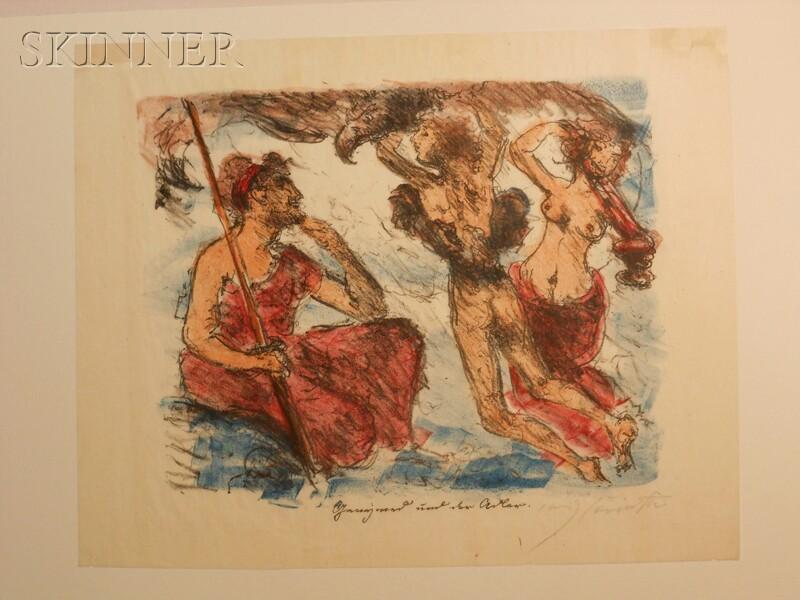 Lovis Corinth (German, 1858-1925)      Two Images from DIE LIEBSCHAFTEN DES ZEUS