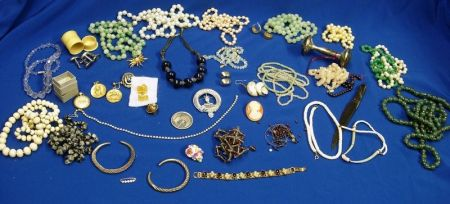 Large Group of Bead, Faux Pearl, and Costume Jewelry