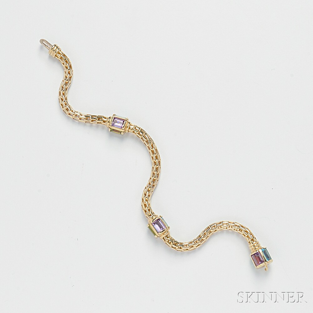 14kt Gold Gem-set Bracelet