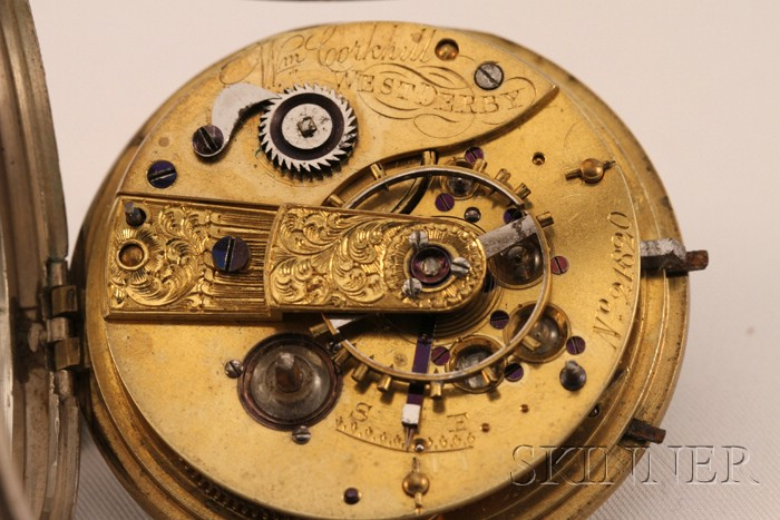 Silver Consular Case Watch by William Corkhill