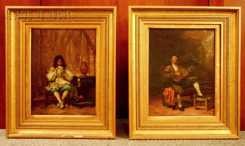 Edwin Howland Blashfield (American, 1848-1936)      Two Portraits of Gentlemen: A Bullfighter
