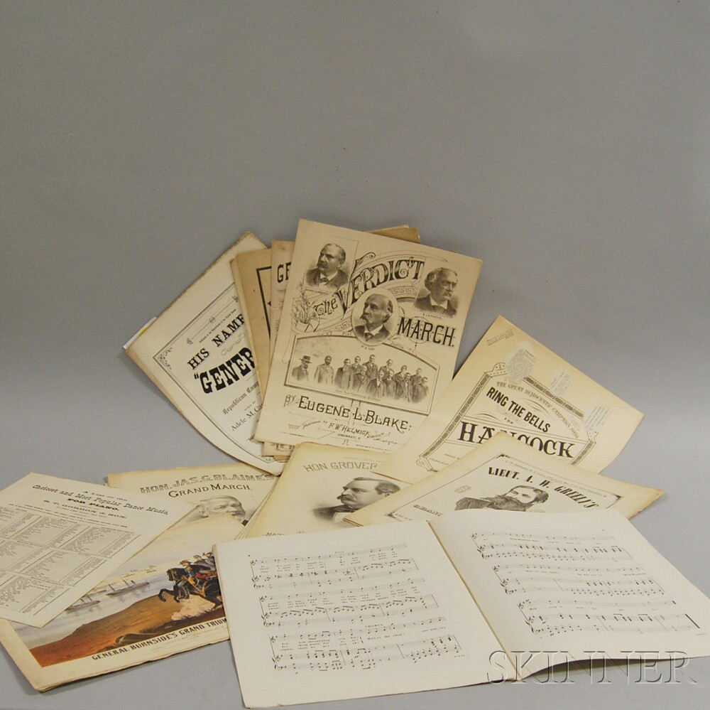 Small Collection of 19th Century Political Sheet Music