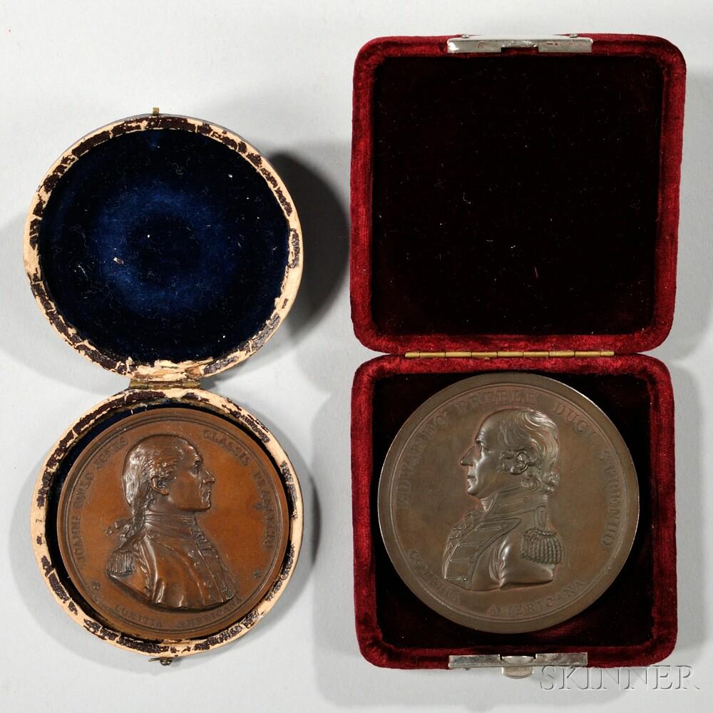 Edward Preble and John Paul Jones Comitia Americana Medals