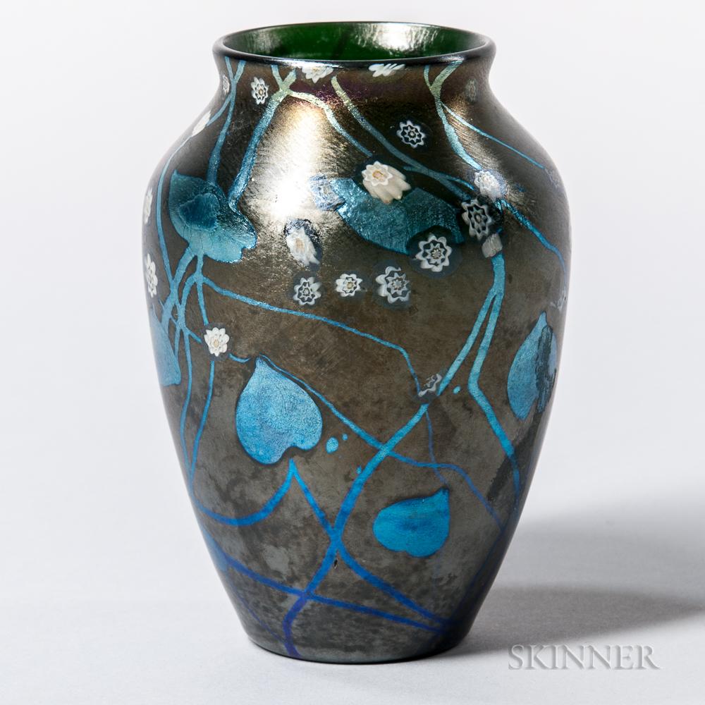 Tiffany Favrile Decorated Cabinet Vase