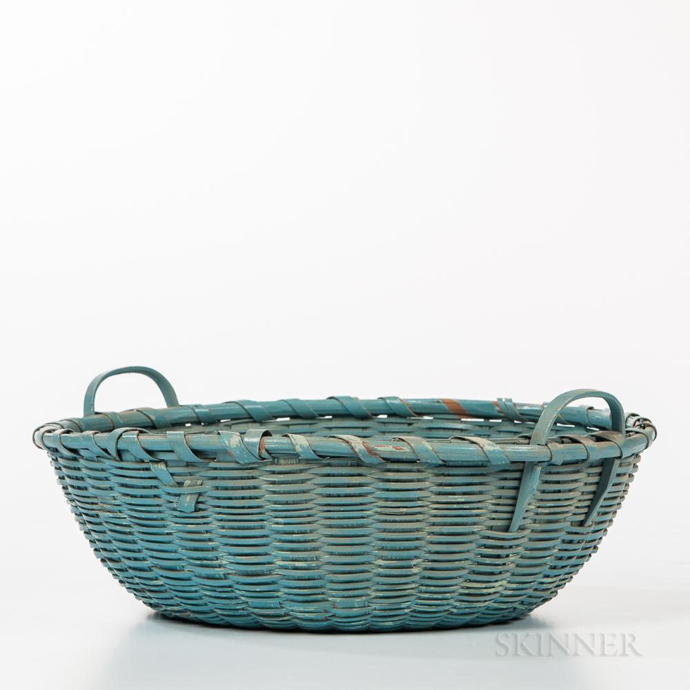 Shaker Blue-painted Basket
