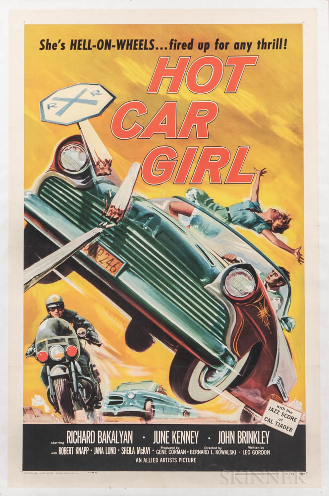 """""""Hot Car Girl"""" One Sheet Movie Poster"""