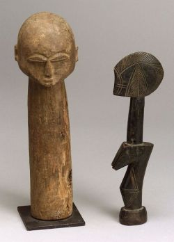 Two African Carved Wood Items