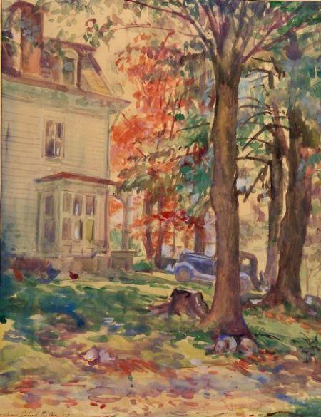 James Sanford Hulme (American, b. 1900)    Copper Birch