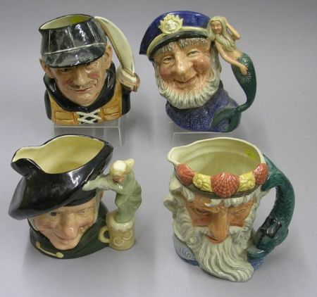 Four Large Royal Doulton Character Jugs