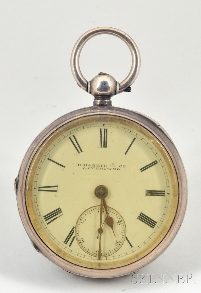Three Silver Open Face Lever Watches by Dawson & Co., Harris & Co., and Roskells