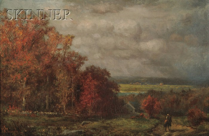 Attributed to Ansel D. Clough (American, fl. 1873-1874)      Autumn Road