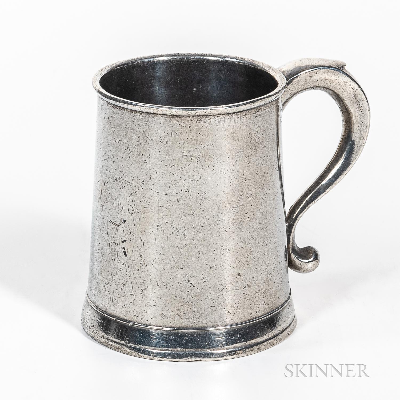 Joseph Danforth Pewter Pint Mug