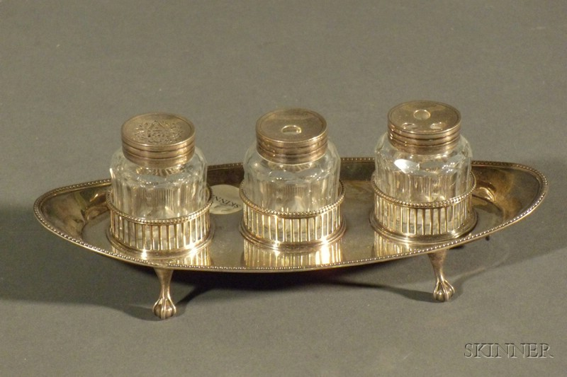 George III Bottle Ink Stand