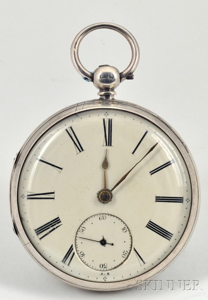 Two Silver Lever Watches by Ball and Blundell