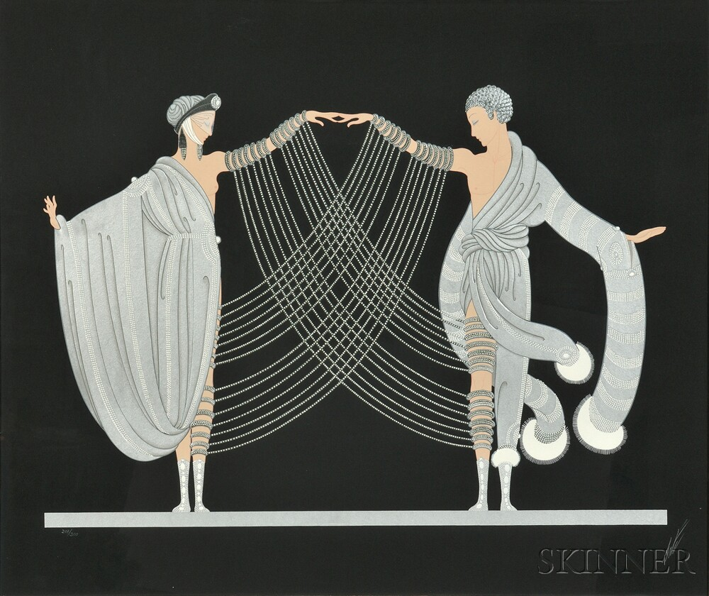Romain de Tirtoff, called Erté (Russian/French, 1892-1990)      Love and Passion Suite  /A Suite of Two Works