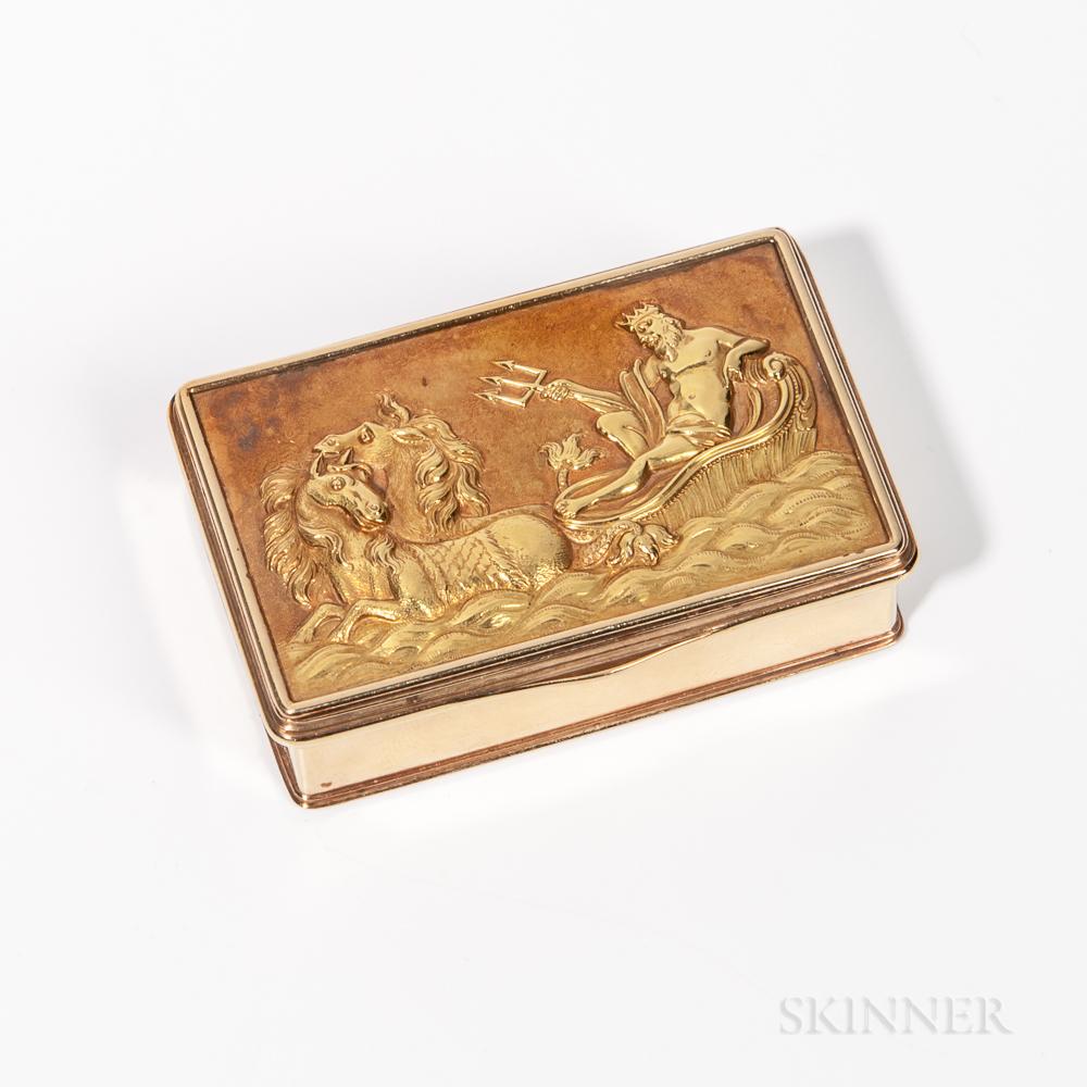 Gold Presentation Snuffbox
