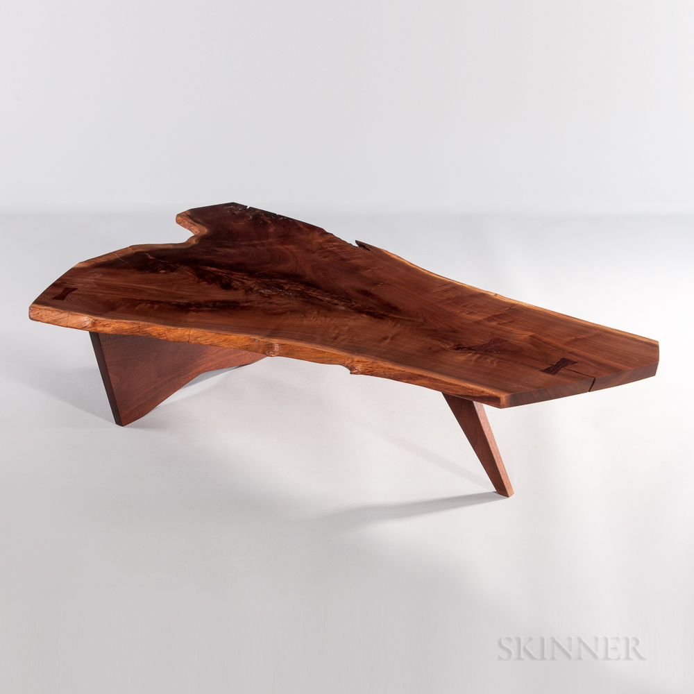 George Nakashima Black Walnut Slab Coffee Table