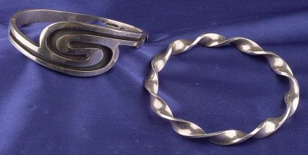 Two Mexican Silver Bangles, Taxco
