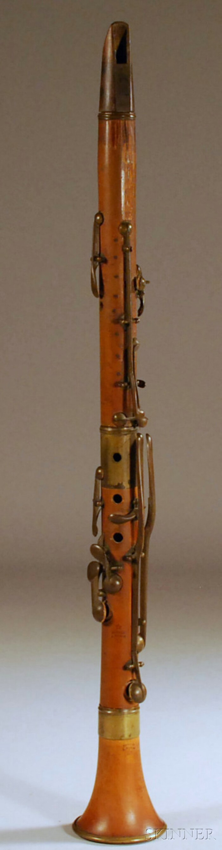 French Boxwood Clarinet, Buffet, Paris, c. 1880