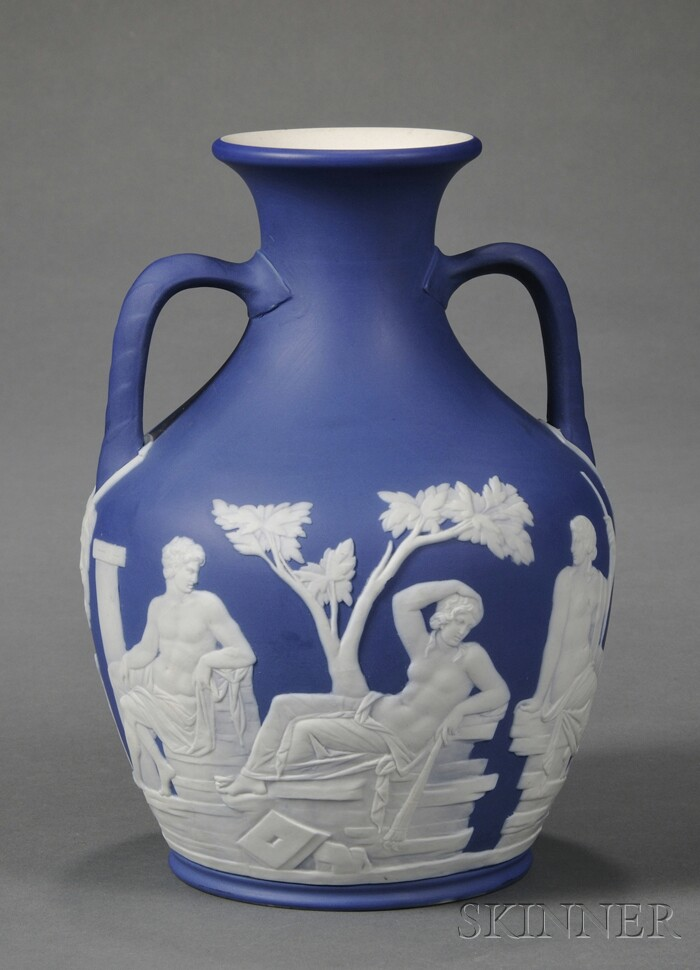 Wedgwood Dark Blue Jasper Dip Portland Vase