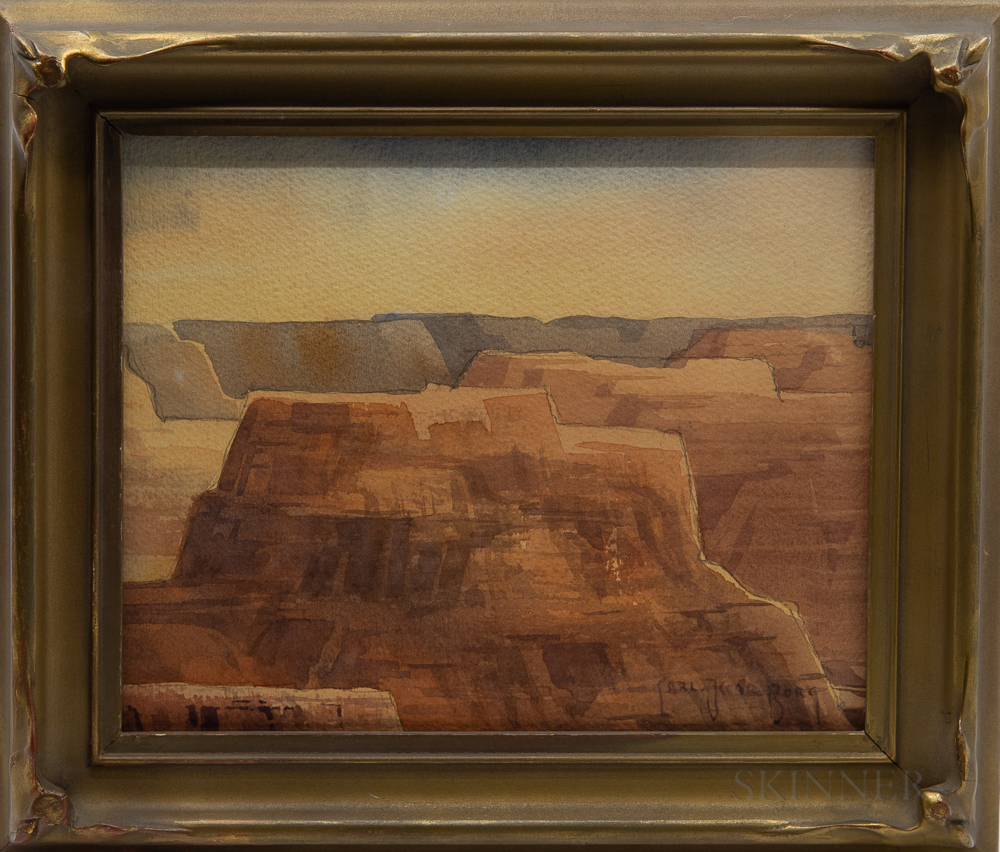 Carl Oscar Borg (Swedish/American, 1879-1947)      Canyon de Chelly, Arizona